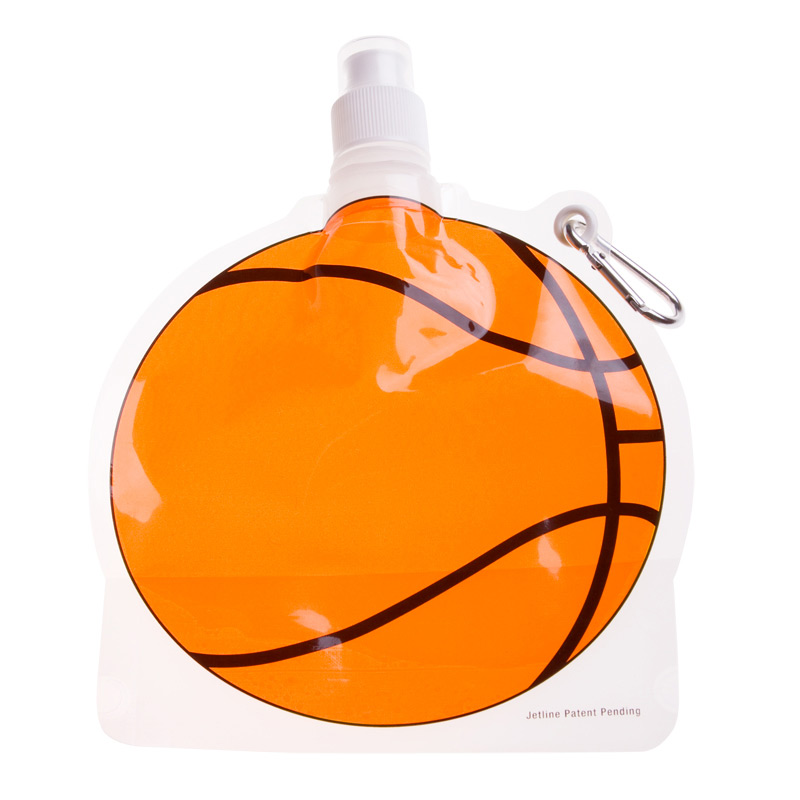 Collapsible Water Pouch 24 oz. - Basketball