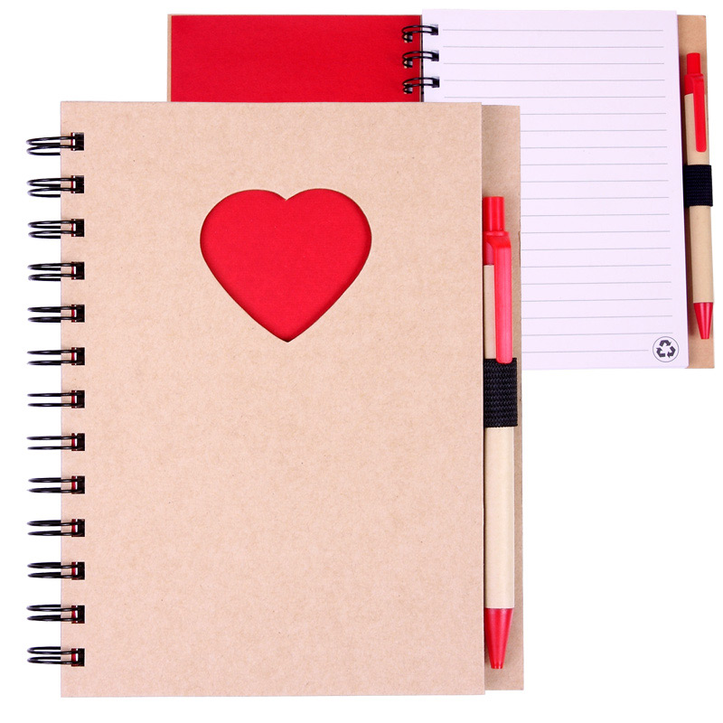 EcoShapes Recycled Die Cut Notebook: Heart