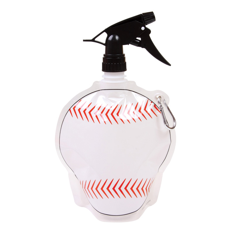 Collapsible Spray Top Water Pouch 24 oz. - Baseball