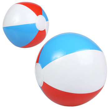 "10"" Red, White and Blue Beach Ball"
