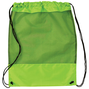 Mesh Panel Drawstring Backpack