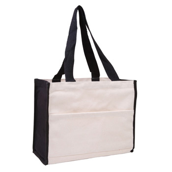 Cotton Gusset Accent Box Tote