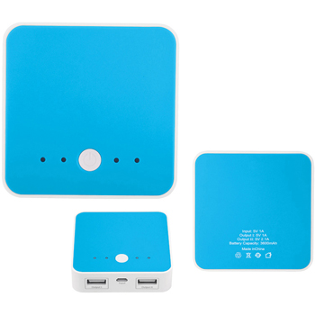 Fashion Square Duo USB Power Bank Charger