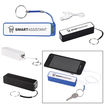 Cube Key Chain Power Bank Charger - UL Certified