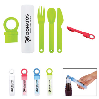 Plastic Utensil Set w/ Bottle Opener