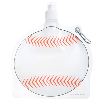 HydroPouch! 24 oz. Baseball Collapsible Water Bottle - Patented
