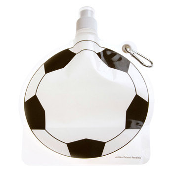 HydroPouch! 24 oz. Soccer Ball Collapsible Water Bottle - Patented