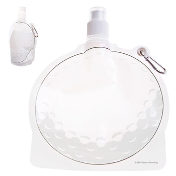 HydroPouch! 24 oz. Golf Ball Collapsible Water Bottle - Patented