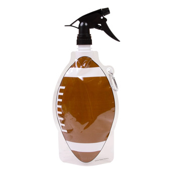 Collapsible Spray Top Water Pouch 22 oz. - Football