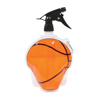 HydroPouch! 24 oz. Basketball Collapsible Spray Top Water Bottle - Patented