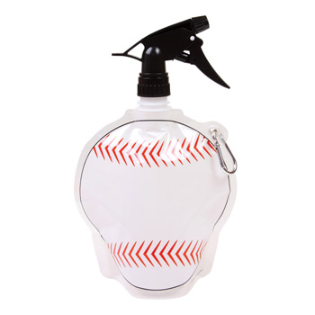 HydroPouch! 24 oz. Baseball Collapsible Spray Top Water Bottle - Patented