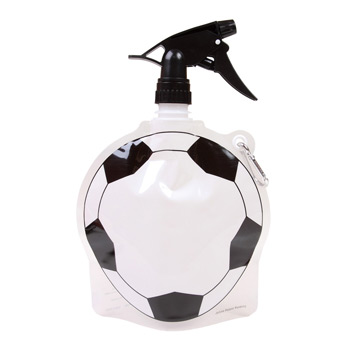 HydroPouch! 24 oz. Soccer Ball Collapsible Spray Top Water Bottle - Patented