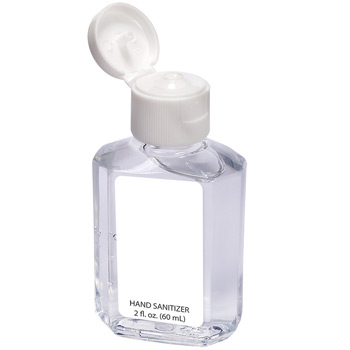 Gel Hand Sanitizer in Square Bottle - 2 oz. / 59 mL