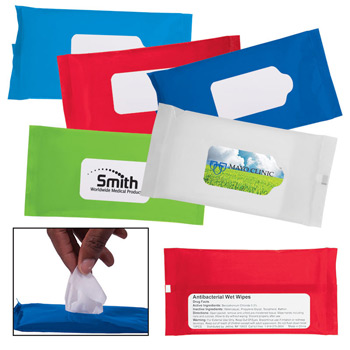 Sanitizer Wipes in Re-sealable Pouch