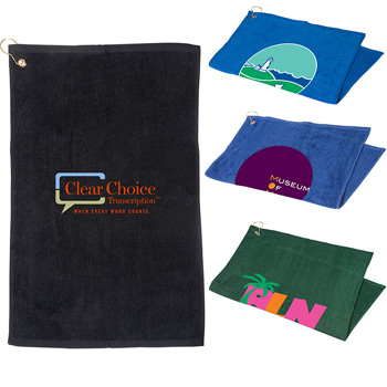 16 x 25 Golf Towel with Grommet and Hook