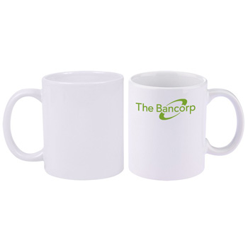 11 oz. Basic C Handle Ceramic Mug - White